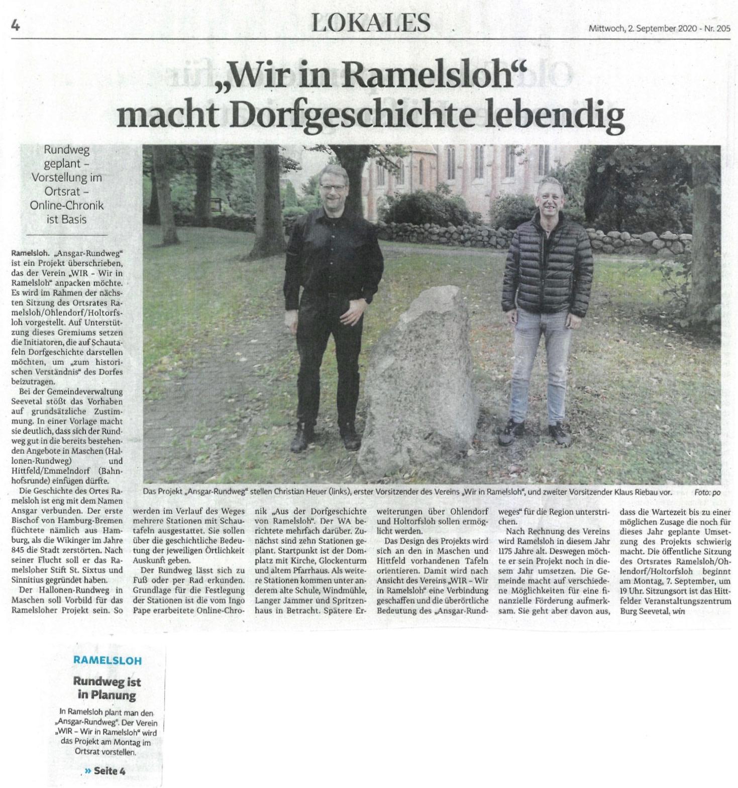 """Neues Projekt – der """"Ansgar-Rundweg"""" soll entstehen"""